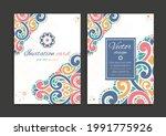 abstract invitation card design....   Shutterstock .eps vector #1991775926