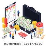 retirement preparation plan... | Shutterstock .eps vector #1991776190