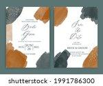 wedding invitation card...   Shutterstock .eps vector #1991786300