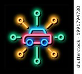 universal network of cars neon... | Shutterstock .eps vector #1991794730