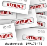 overdue word in envelopes to... | Shutterstock . vector #199179476