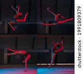 Rhythmic Gymnastics. Young...