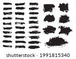 vector set black paint brush...   Shutterstock .eps vector #1991815340