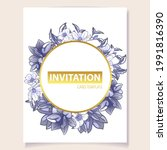 invitation greeting card with...   Shutterstock .eps vector #1991816390