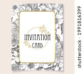 invitation greeting card with...   Shutterstock .eps vector #1991816399