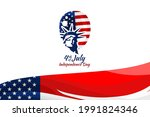 independence day of the usa 4... | Shutterstock .eps vector #1991824346