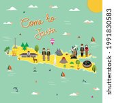 java indonesia tourism map... | Shutterstock .eps vector #1991830583