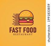 modern burger hamburger fast... | Shutterstock .eps vector #1991833859