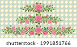 set of beautiful wreath of pink ...   Shutterstock .eps vector #1991851766