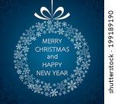 christmas background in vector...   Shutterstock .eps vector #199189190