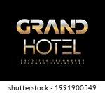 vector modern logo grand hotel. ...   Shutterstock .eps vector #1991900549