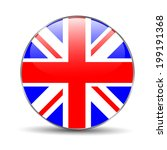 great britain flag on button | Shutterstock .eps vector #199191368