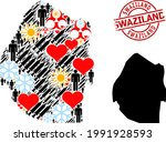 scratched swaziland stamp  and... | Shutterstock .eps vector #1991928593