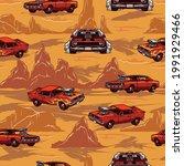 custom cars colorful vintage... | Shutterstock .eps vector #1991929466