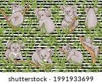 koala bear seamless pattern.... | Shutterstock .eps vector #1991933699