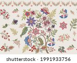 fantasy flowers in retro ... | Shutterstock .eps vector #1991933756