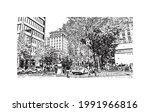 building view with landmark of...   Shutterstock .eps vector #1991966816