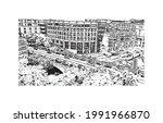 building view with landmark of...   Shutterstock .eps vector #1991966870