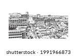 building view with landmark of...   Shutterstock .eps vector #1991966873