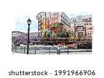 building view with landmark of...   Shutterstock .eps vector #1991966906