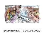 building view with landmark of...   Shutterstock .eps vector #1991966939