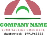 simple logo half circle split...   Shutterstock .eps vector #1991968583