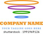 circle ligo with cheerful color ...   Shutterstock .eps vector #1991969126