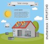 solar energy house panel scheme ... | Shutterstock .eps vector #199197140