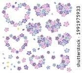 heart shaped cherry blossom... | Shutterstock .eps vector #1991975933