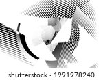 abstract halftone lines... | Shutterstock .eps vector #1991978240