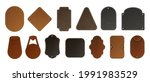 leather label. realistic blank... | Shutterstock .eps vector #1991983529