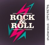 rock and roll background design.... | Shutterstock .eps vector #199198796