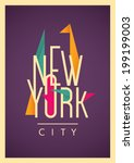 New York City Poster With...