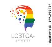 vector lgbtqa logo symbol....   Shutterstock .eps vector #1991999759