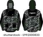 long sleeve camouflage hoodie... | Shutterstock .eps vector #1992000833
