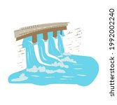 hydroelectric power station and ...   Shutterstock .eps vector #1992002240