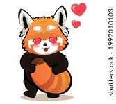Red Panda In Love With Love...