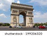 paris   july 15  arc de... | Shutterstock . vector #199206320