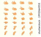 hand animation. hands in... | Shutterstock .eps vector #1992064553