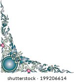 images artistic of line thai on ...   Shutterstock . vector #199206614
