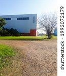 Small photo of National University of Tres de Febrero, Villa Lynch Headquarters. Buenos Aires, Argentina, June 10, 2021.