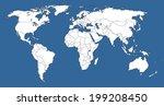 highly detailed world map... | Shutterstock .eps vector #199208450