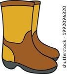 rubber boots  rubber boots... | Shutterstock .eps vector #1992096320