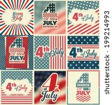 4th of july set   independence... | Shutterstock .eps vector #199214993