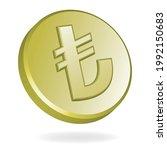 turkish lira gold coin ...   Shutterstock .eps vector #1992150683