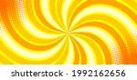 pop art yellow spiral comics...   Shutterstock .eps vector #1992162656