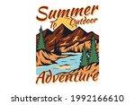 t shirt summer outdoor... | Shutterstock .eps vector #1992166610