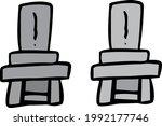 simple grave illustrations 2... | Shutterstock .eps vector #1992177746