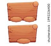 set of wooden menu button  ui...