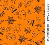 seamless pattern with halloween ...   Shutterstock .eps vector #1992241193